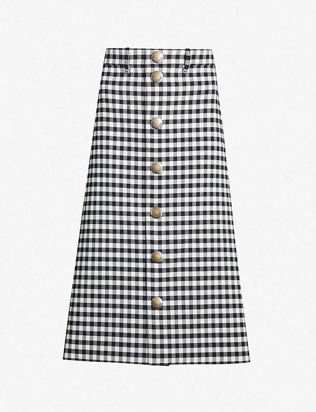 d774031e99 BALENCIAGA - Checked woven midi skirt | Selfridges.com