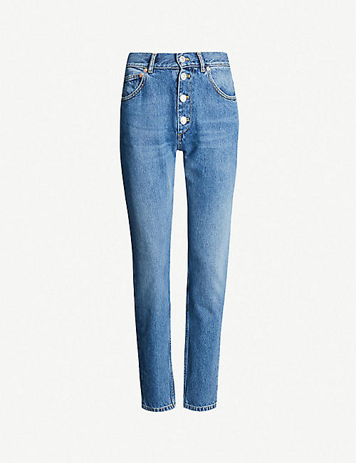 78d5bbf5 BALENCIAGA Tube high-rise straight jeans