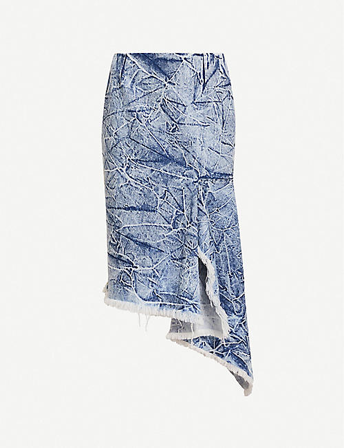 BALENCIAGA Asymmetric denim skirt