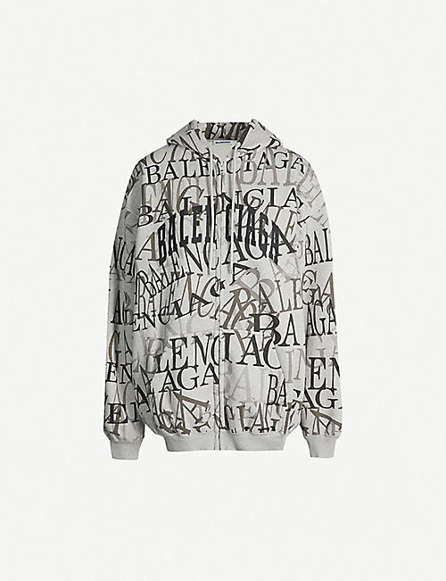 21f49405d64 BALENCIAGA Logo-print cotton-jersey hoody