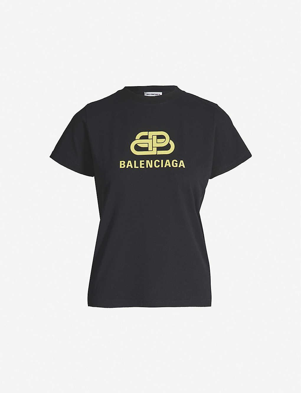0f93d272359a BALENCIAGA - Logo-print oversized cotton-jersey T-shirt | Selfridges.com
