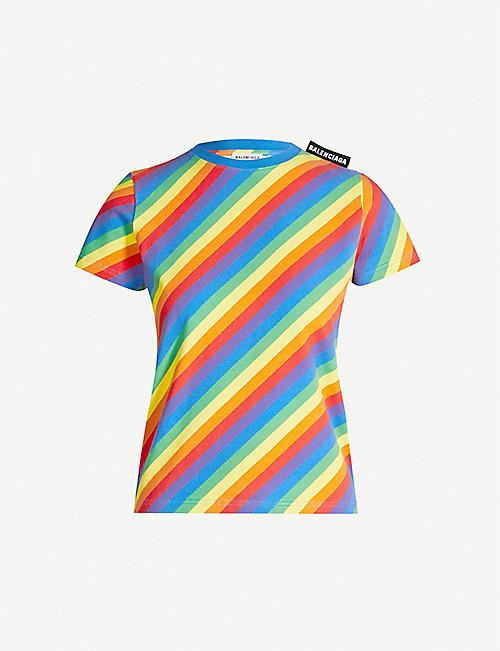 4be19915f2a BALENCIAGA Multi-coloured cotton-jersey T-shirt