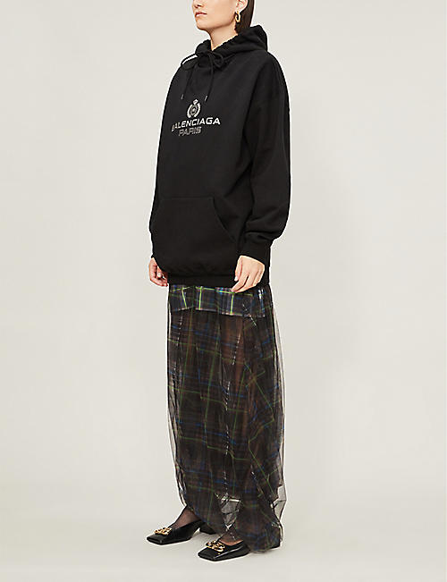 BALENCIAGA Logo-print stretch-cotton hoody