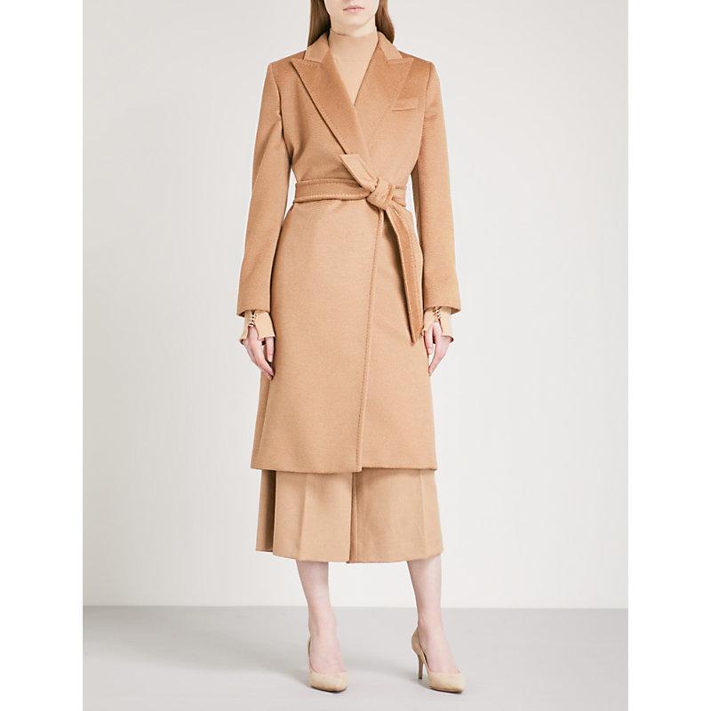 Seoul Camel Hair Wrap Coat
