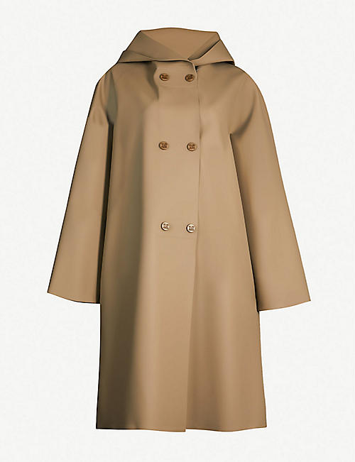 MAX MARA Stilla coated-jersey hooded coat 81f22e4c7
