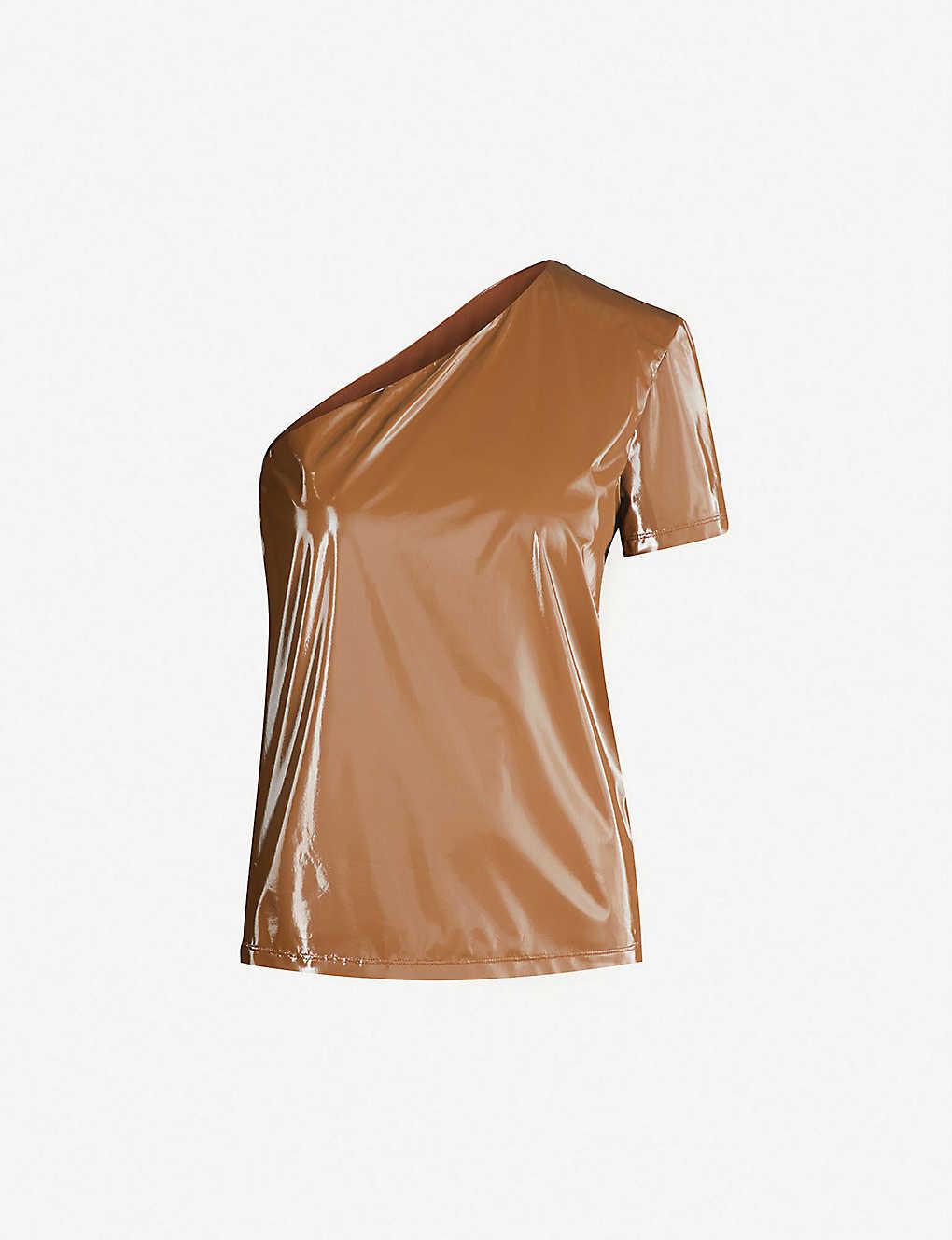 36ad1ddb864d8 MAX MARA - Zuppa one-shoulder coated shell top