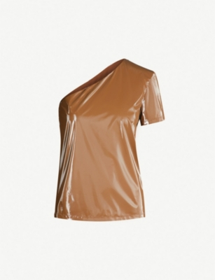 MAX MARA Zuppa one-shoulder coated shell top