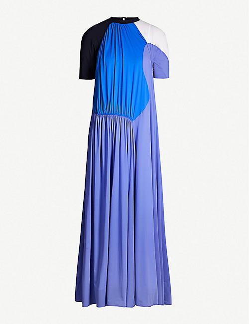 55ca81cc2ac MAX MARA Leida colour-blocked stretch-jersey maxi dress