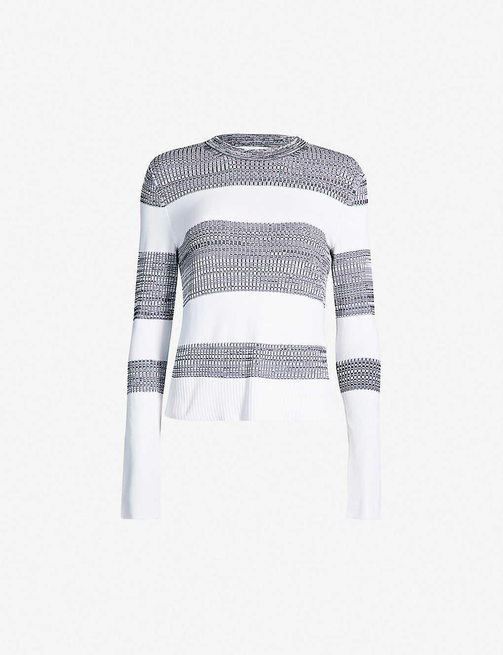 3bb272efb5ead6 SPORTMAX - Gandara striped ribbed-knit jumper | Selfridges.com