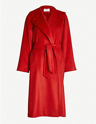 MAX MARA: Manuela camel-hair wrap coat