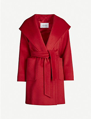 MAX MARA: Rialto hooded camel hair coat