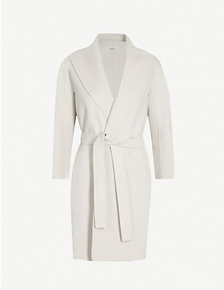 S MAX MARA: Messi wool wrap coat