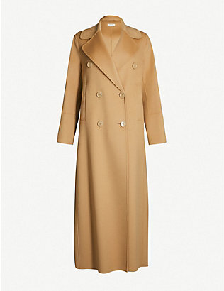 S MAX MARA: Custodi double-breasted brushed wool coat