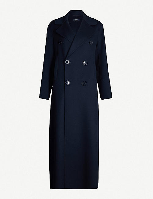 S MAX MARA Custodi double-breasted brushed wool coat