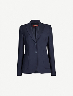 MAX MARA STUDIO Angizia notched-lapel collar wool-blend blazer