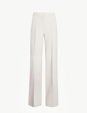 MAX MARA Arthur wide high-rise stretch-wool trousers
