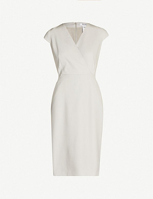 MAX MARA Sleeveless V-neck stretch-wool dress
