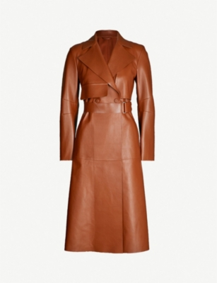 SPORTMAX Blando belted leather trench coat