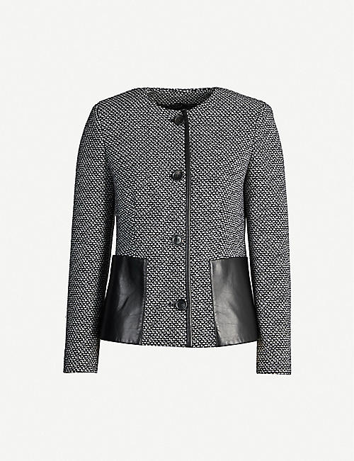 MAX MARA Bligny round-neck slim-fit wool jacket