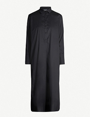 S MAX MARA Boheme belted cotton-blend shirt dress