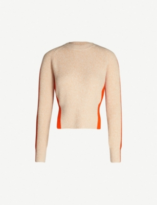 SPORTMAX Two-tone ribbed cashmere jumper