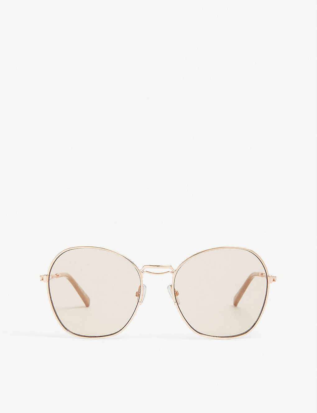 MAX MARA: Butterfly-frame Bridge sunglasses