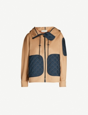 SPORTMAX Ceres contrast-panel shell hooded jacket