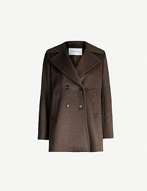 MAX MARA Classe classic-fit cashmere and camel-blend coat