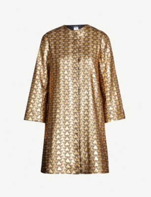 S MAX MARA Cottage metallic-jacquard coat