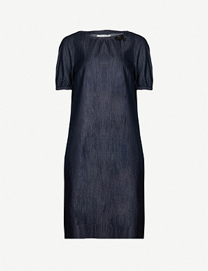 S MAX MARA Denim midi dress