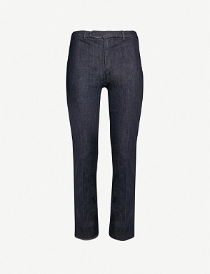 S MAX MARA Cropped stretch-denim trousers