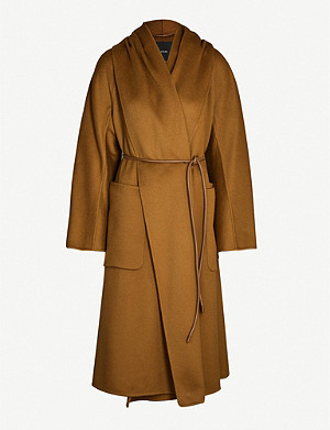 MAX MARA ATELIER Disegno hooded belted cashmere coat