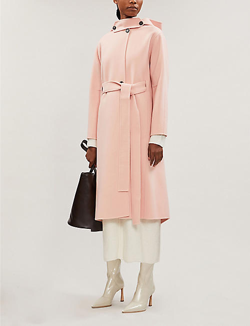 SPORTMAX Embassy hooded wool-and-cashmere blend coat