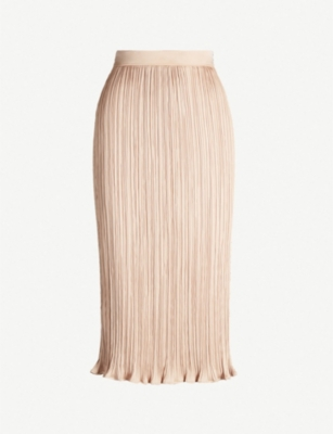 MAX MARA Emmy pleated satin skirt