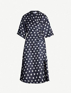 MAX MARA Esposto floral-print silk-twill wrap dress