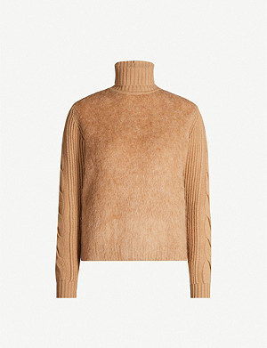 MAX MARA Formia roll-neck mohair, wool and cashmere-blend jumper
