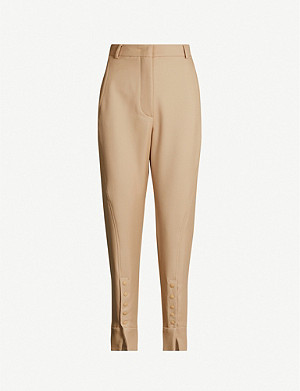 SPORTMAX Galena straight mid-rise wool trousers