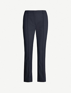 SPORTMAX Garda cropped high-rise stretch-jersey trousers