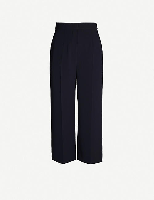 MAX MARA STUDIO Gerry wide-leg high-rise crepe trousers