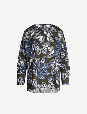 S MAX MARA Ginger floral-print cotton top