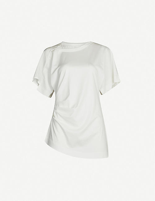 SPORTMAX Giove relaxed-fit round-neck cotton-blend top