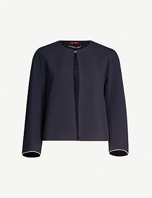 MAX MARA STUDIO Diamante-embellished crepe jacket