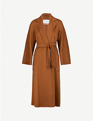 MAX MARA: Labbro relaxed-fit cashmere and wool-blend coat