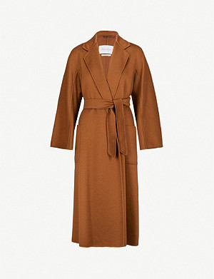 MAX MARA Labbro relaxed-fit cashmere and wool-blend coat