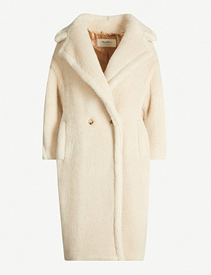MAX MARA Lady Ted notch-lapel cashmere and silk-blend teddy coat