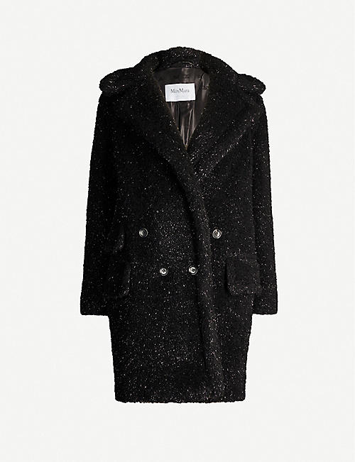 MAX MARA Lastra glittered faux-fur coat