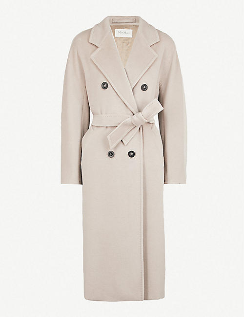 MAX MARA: Madame double-breasted wool and cashmere-blend coat