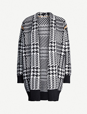 MAX MARA Malizia houndstooth wool and cashmere-blend cardigan