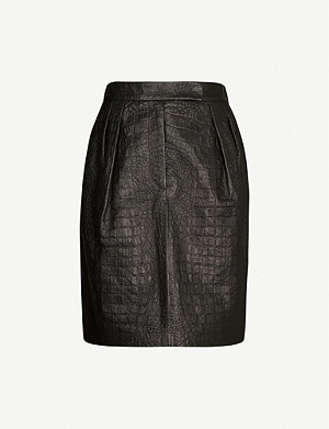 MAX MARA Manila leather mini skirt
