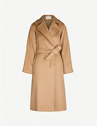 MAX MARA: Manuela camel hair wrap coat